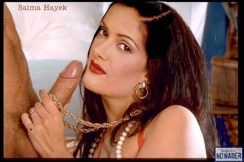salma naked Sucking hayek