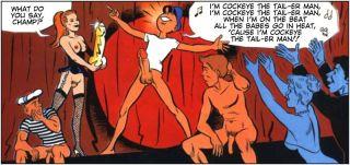 Comics of Cockeye fucks six girls at once in live