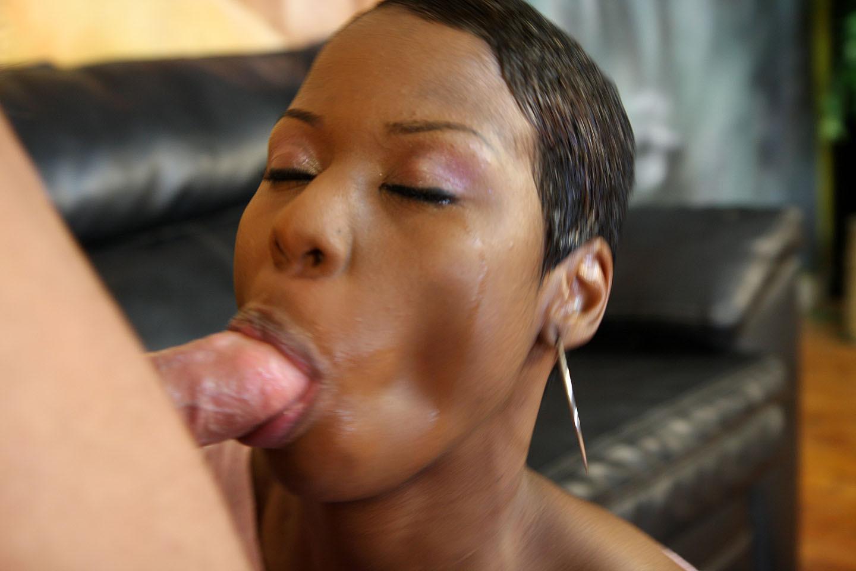 Cum on girls lips