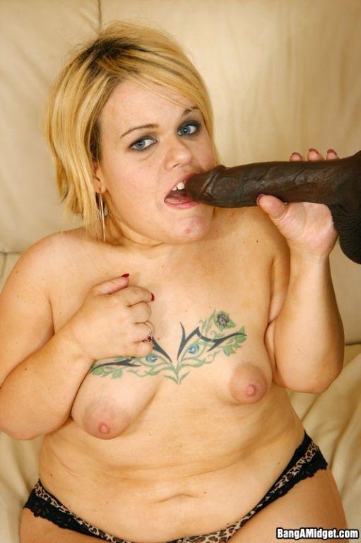 Midget Stella Takes On A Huge Black Cock