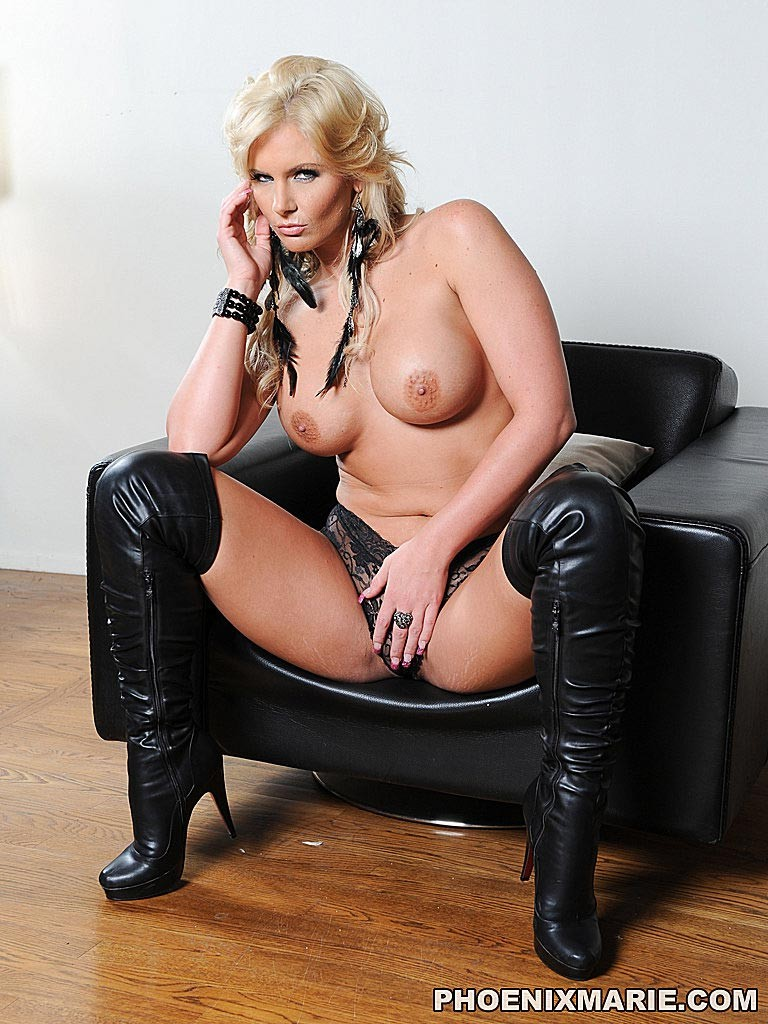 Oiled Blonde Phoenix Marie In Boots Gets Her Asshole Pichunter 1