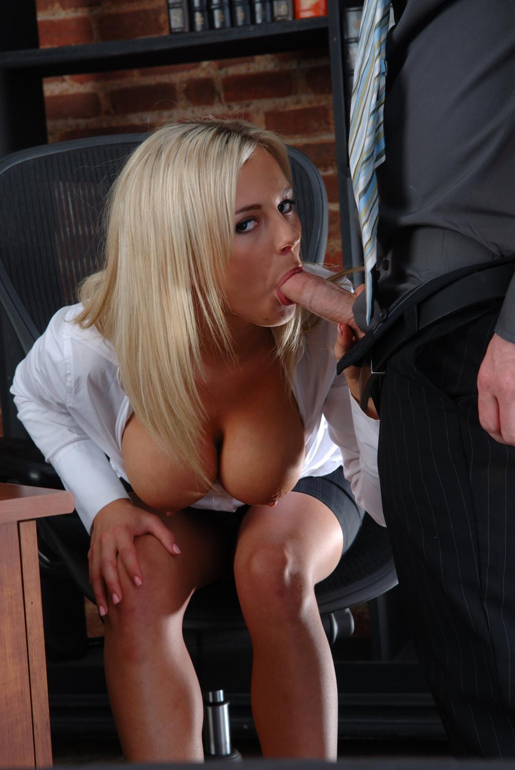 Sucking cock at work