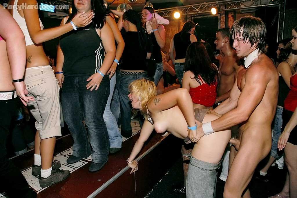 Sex porn group public party