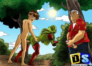 Avatar's beach fucking - Ben 10 and his slut