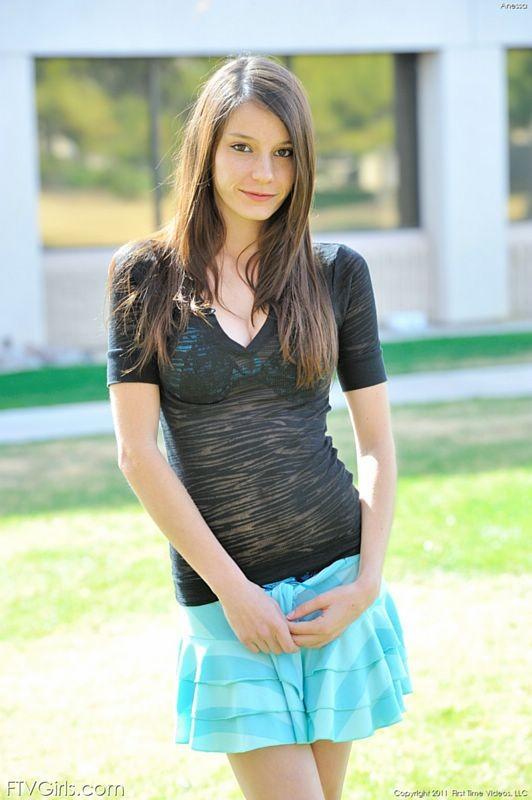 Skinny Brunette Teen Casting