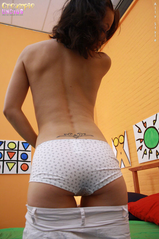 Petite girl get's fucked with hot pants on