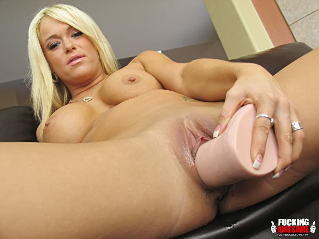 Naughty slut Crista Moore sucks and fucks giant di