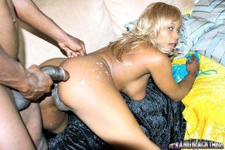 Blonde ebony slut Vida Valentine getting slammed b