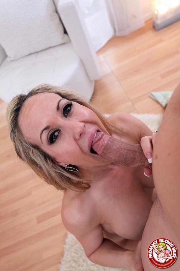 Brandi Love Pov Blowjob - Blonde MILF mom Brandi Love sucking thick cock POV style ...