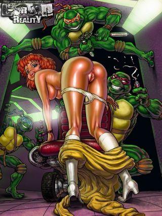 Team Galaxy banging  - Horny Teenage Mutant Ninja