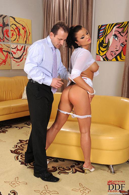 Kassey Krystal babe is spanked hard on her naked h