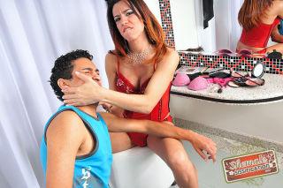 Shemale forces feminization on her boytoy