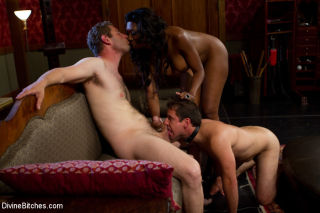 Nyomi Banxxx cuckolds boyfriend and strapon fucks