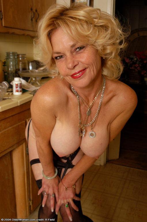 Great looking granny teasing in revealing lingerie