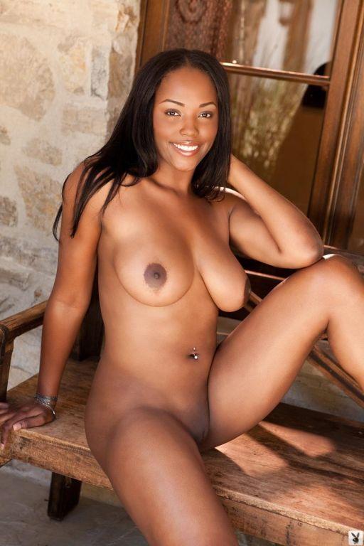 Hot horny ebony model strips naked