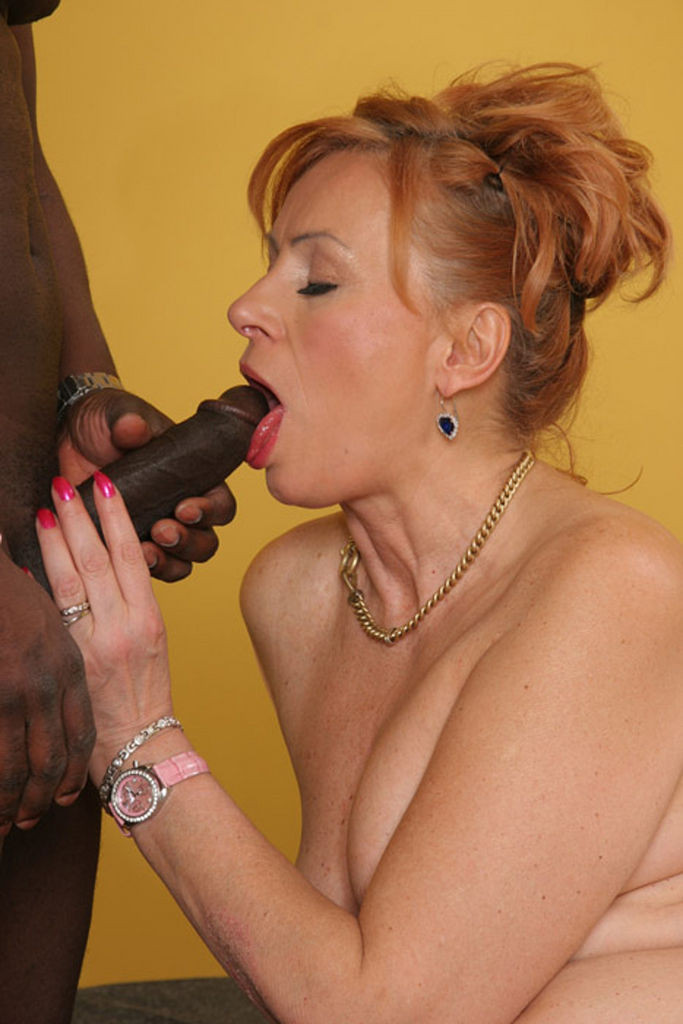 Red Haired And Ebony Grannies Involved One Huge Old Gets Stick 1