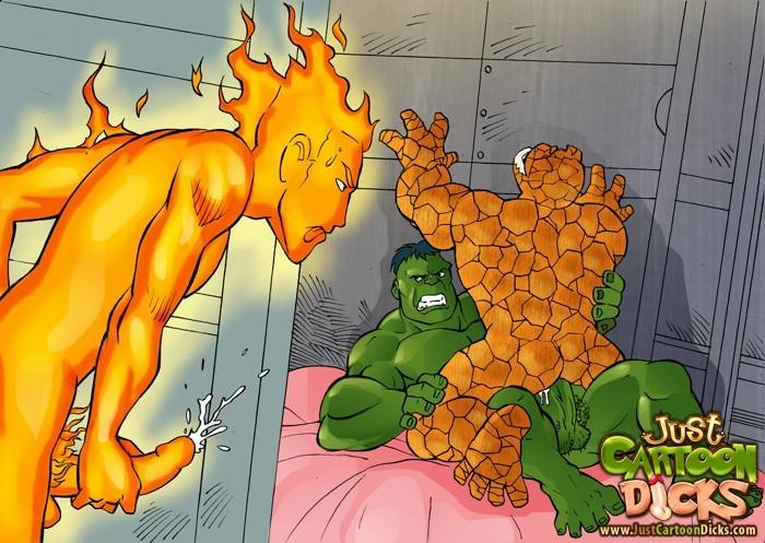 Family Guy gay porn Fantastic Four cocks - Pichunter