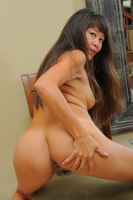 Hairy mature asian
