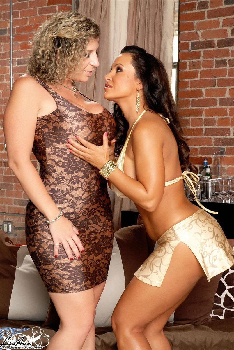 Big Tits Lesbian Reach Around