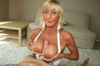 granny titfuck handjob at clubtug