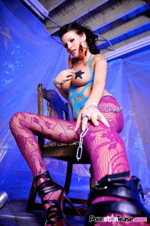 Sea J Raw posing in sexy stockings