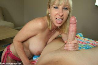 Mother Keri Lynn sucks and slobbers on Billys cock