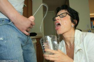 sperm bank milf gets cumshot facial