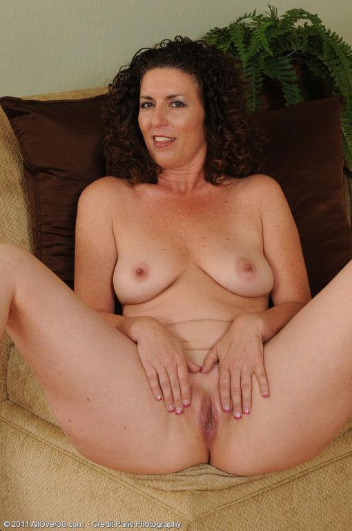 Beautiful mature brunette housewife