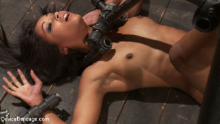 Lyla Storm and Skin Diamond bound in metal made to