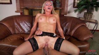 Busty milf Lisa Demarco fucked in her lingerie