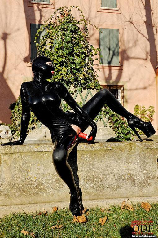 Latexstar Masturbation Porn. Sponsor: Latex Lucy in full black latex  bodystocking and ki