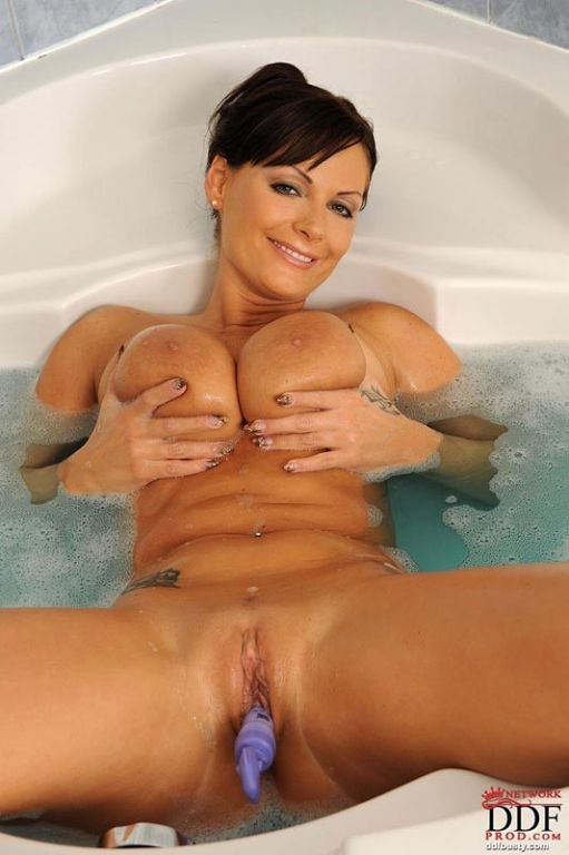 Sheila Grant showing us her enormous juggs in bath