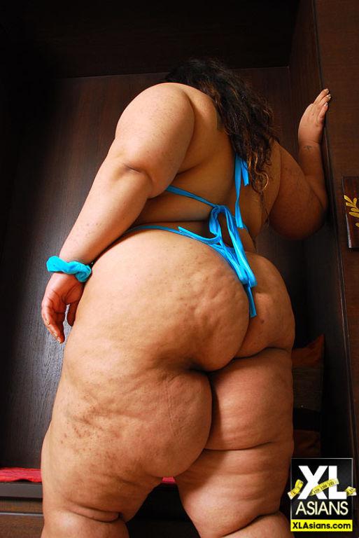 BBW Cassie showcases her big fat ass