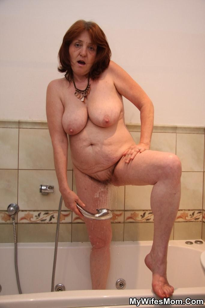 Mature moms naked in shower