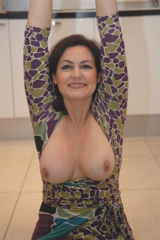Mature showing boobs