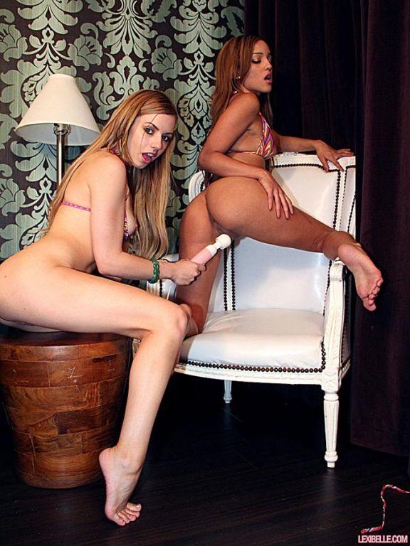 Lexi Belle and Melanie Rios enjoy lively lesbian l