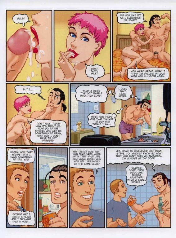 Anime comics of muscle boy fucks cockcraving chick