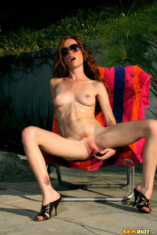 Heather Carolin Rocking Tiny Leopard Thong Bikini