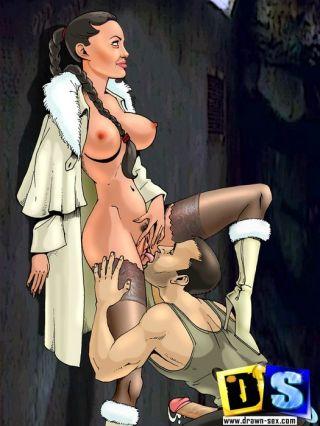 Straight and bisexual Futurama fucking. Lara Croft