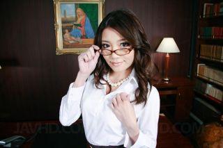 Filthy secretary Ibuki deepthroated and facialized