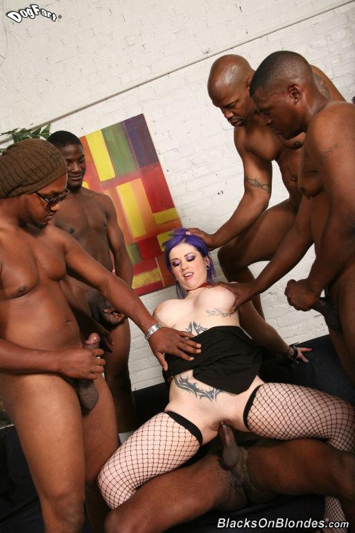 Nice Larkin Love gets interracial sex at Blacks On