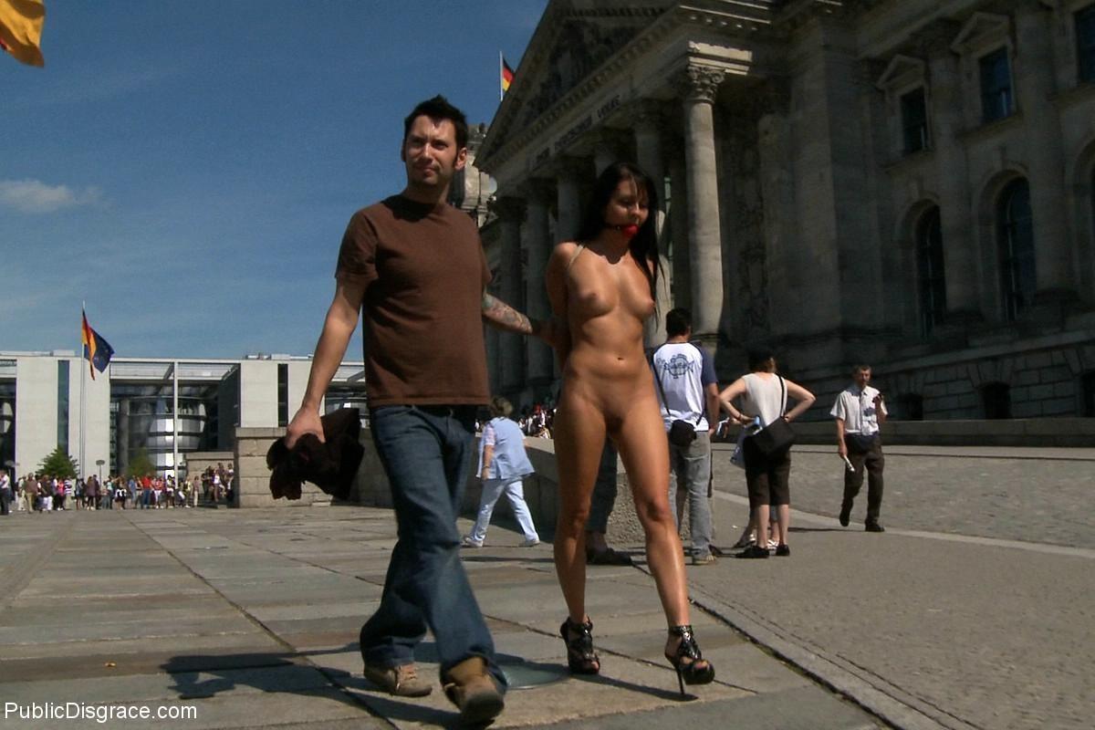 Stripped in public