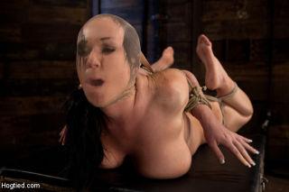 Big titted girl next door, is severely bound, elbo