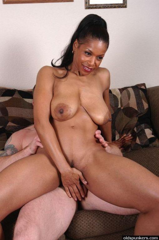 Big tits black cougar