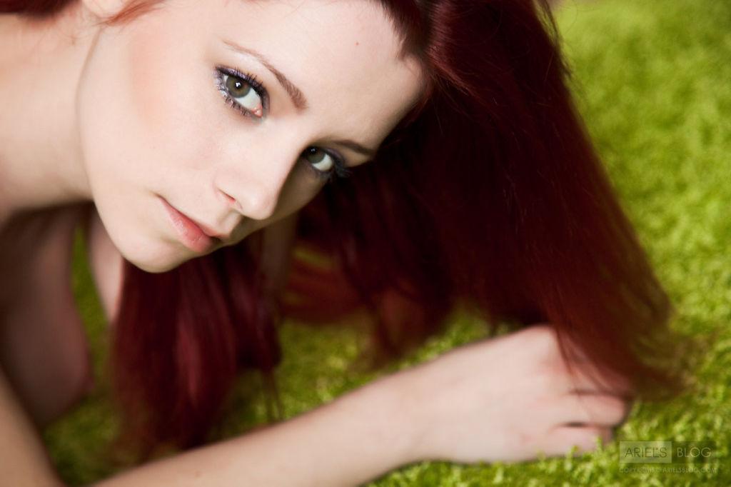 Busty beautiful redhead teen