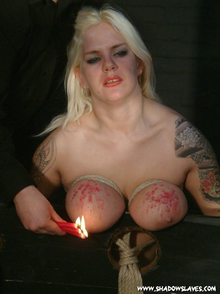 Sandy Sexy Naked Brest Bondage Image