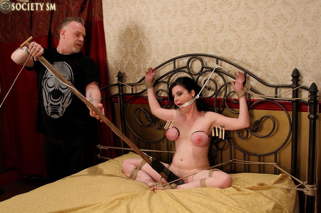 Huge tits Sybil cumming Bondage.