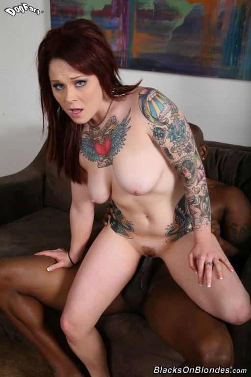 ... Redhead Misti Dawn enjoys big black dick in action