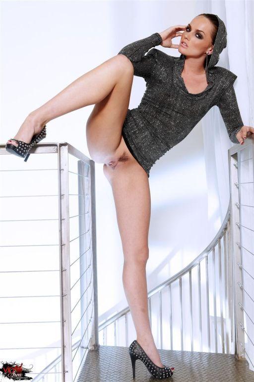 Tori Black poses in her super hot silver dress