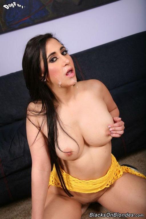 Sexy brunette Valerie Kay in interracial fuck love